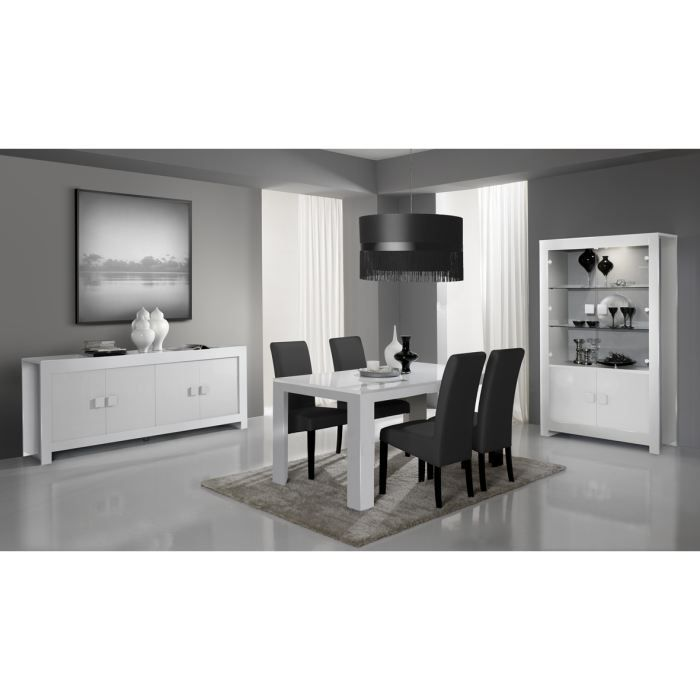 Salle manger design compl te laqu e alba achat vente for Achat salle a manger complete