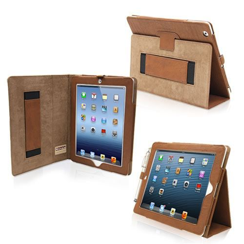 snugg housse ipad 3 ipad 4 r tina cuir marron prix pas cher cdiscount. Black Bedroom Furniture Sets. Home Design Ideas