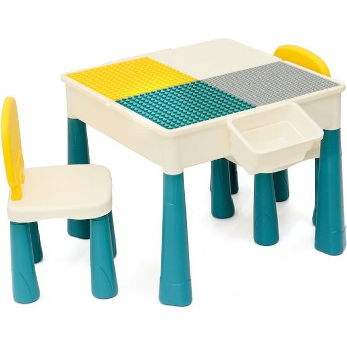 Table et 2 chaises Enfant Motif Animaux Chambre Enfant Meuble Enfant Mobilier Chaise dEnfant Baby Table Pour Enfants Petit Bureau Couleur Blanc Avec Motif