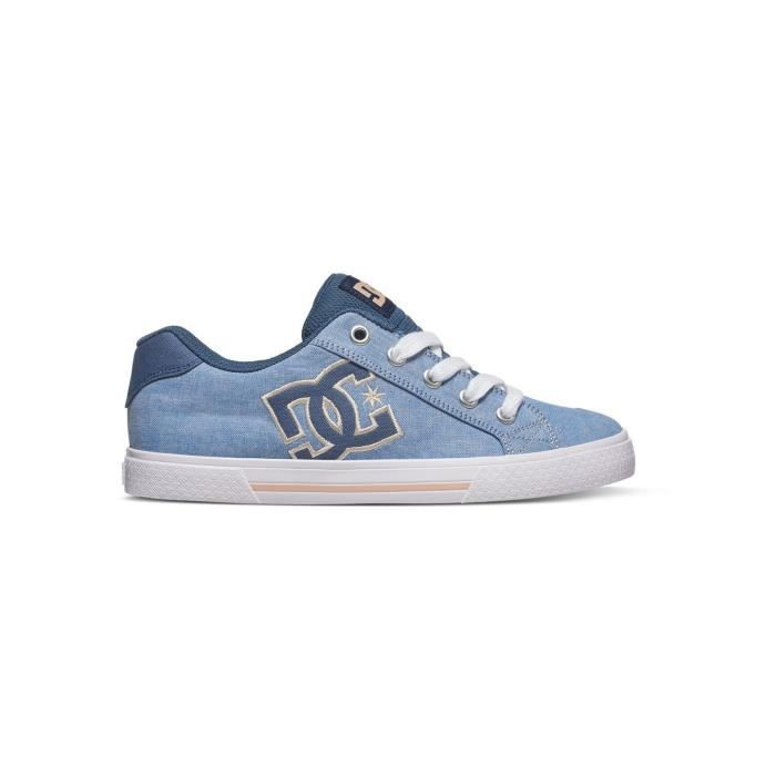 Chaussures Femme DC Chelsea TX - Special Edition Bleu Fonce Blanc zbYDR90di