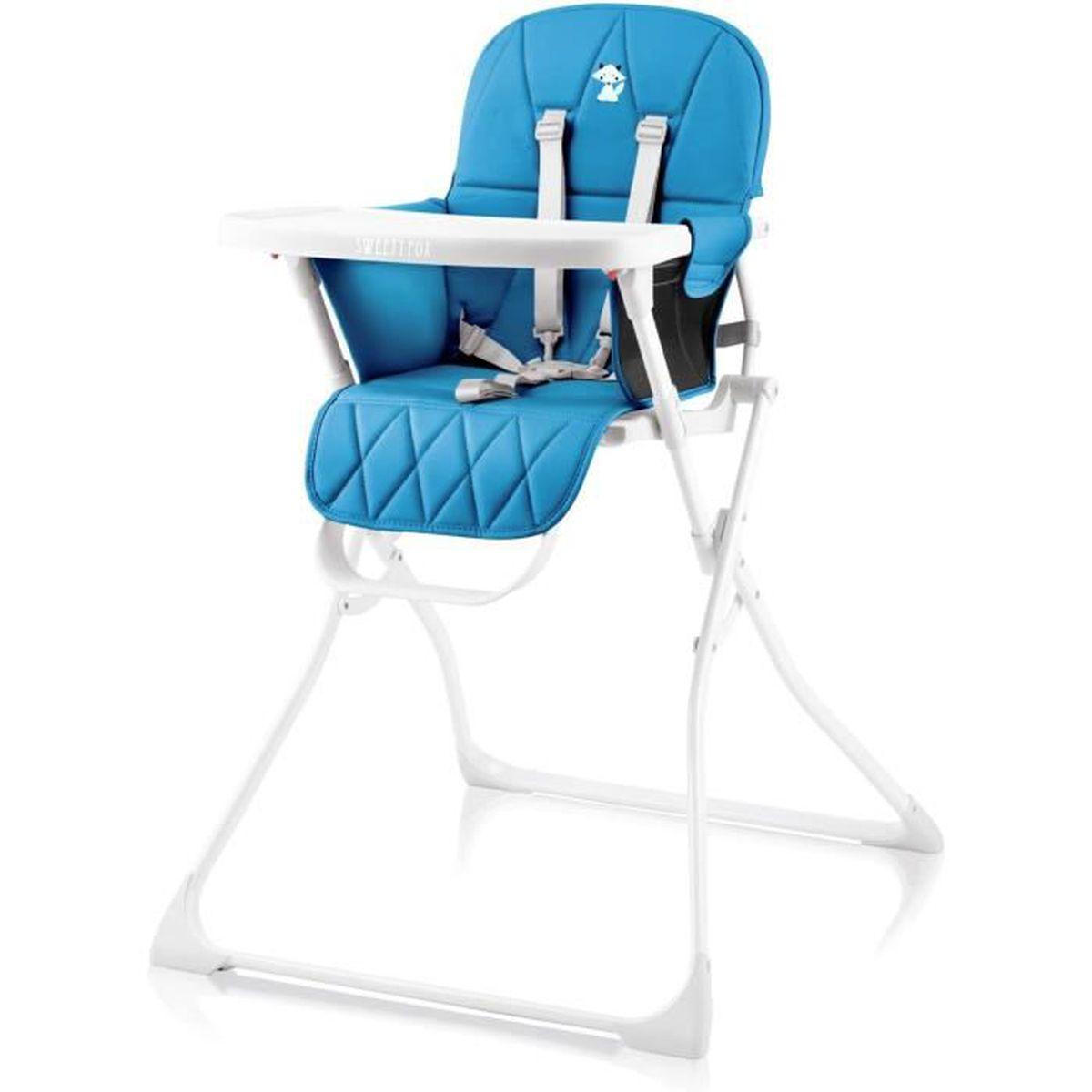 Chaise Haute Bebe Compacte, Reglable et Pliable - Chaise Haute
