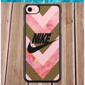 coque iphone 5c nike noir rose or logo gold just d