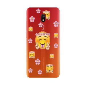 COQUE - BUMPER Coque Redmi 8A Smiley peace love emojii transparen