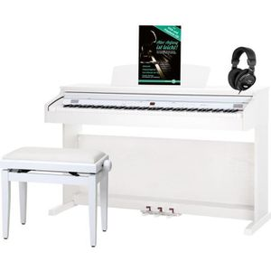 PACK PIANO - CLAVIER Classic Cantabile DP-50 WM E-Piano blanc mat set a