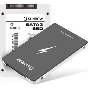 DISQUE DUR SSD TCSUNBOW 480 Go 500 Go SSD 2,5 Pouces SATAIII 6 Go