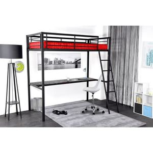 lit mezzanine achat vente lit mezzanine pas cher. Black Bedroom Furniture Sets. Home Design Ideas