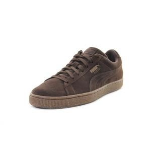 chaussures puma suede marron