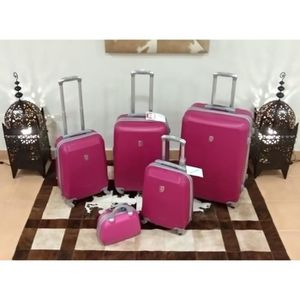 SET DE VALISES Set 4 valises + vanity 4 roues pivotant ROSE