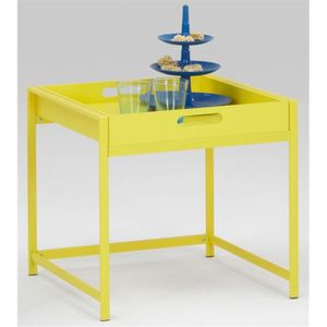 table basse jaune achat vente table basse jaune pas cher. Black Bedroom Furniture Sets. Home Design Ideas