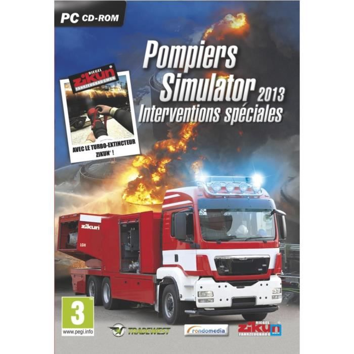 pompiers simulator interventions sp ciales pc achat vente jeu pc pompiers simulator. Black Bedroom Furniture Sets. Home Design Ideas