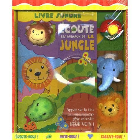 livre sonore la jungle achat vente livre collectif piccolia parution 02 octobre 2008 pas. Black Bedroom Furniture Sets. Home Design Ideas