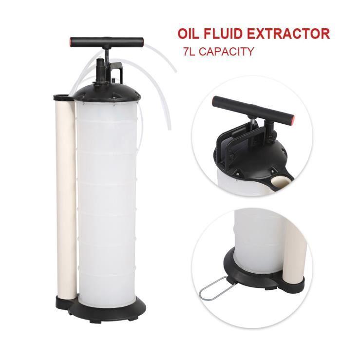 Pompe d aspiration de liquide vidange huile moteur 7L Aspiration Déchets D'huile Pompe Vide D'extraction Transfert -WAN