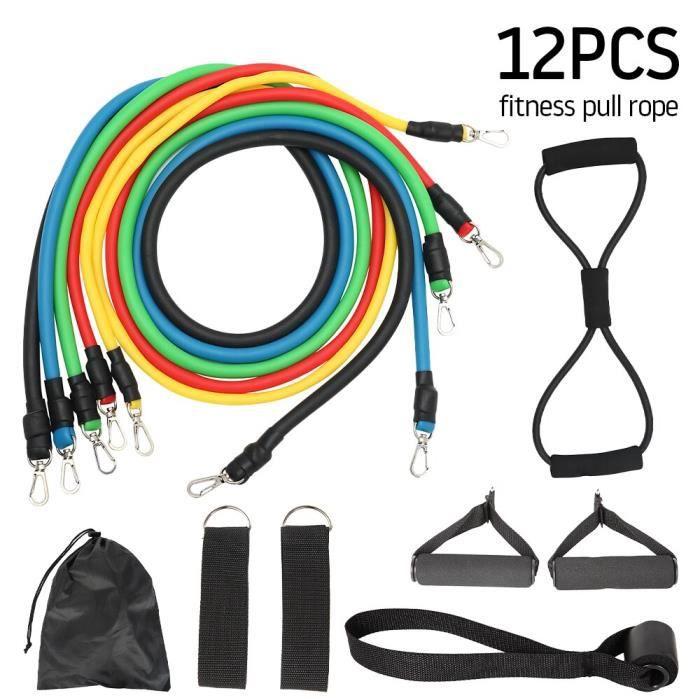 11-13 pièces tirer corde Fitness résistance bandes exercices force équipement maison élastique exe - Modèle: 12 Pcs - HSJSTLDA09963
