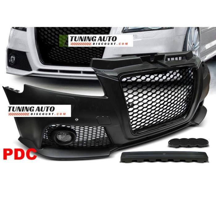 Pare-choc avant Audi A3, 08-12 rs style noir pdc ( 26589 )