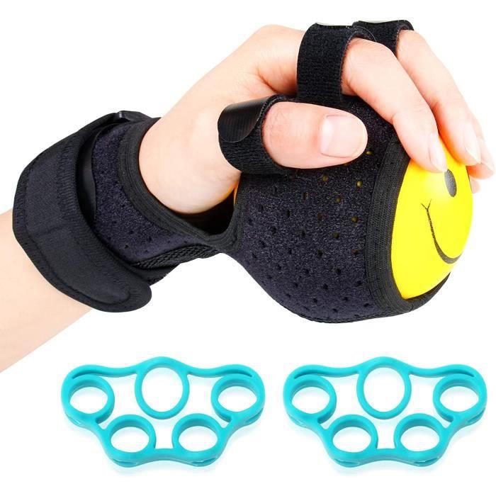 musculation doigts,Anti-spasticity Attelle de boule à la main la Gêne fonctionnelle doigt Orthèse Main d'exercice de rééducation