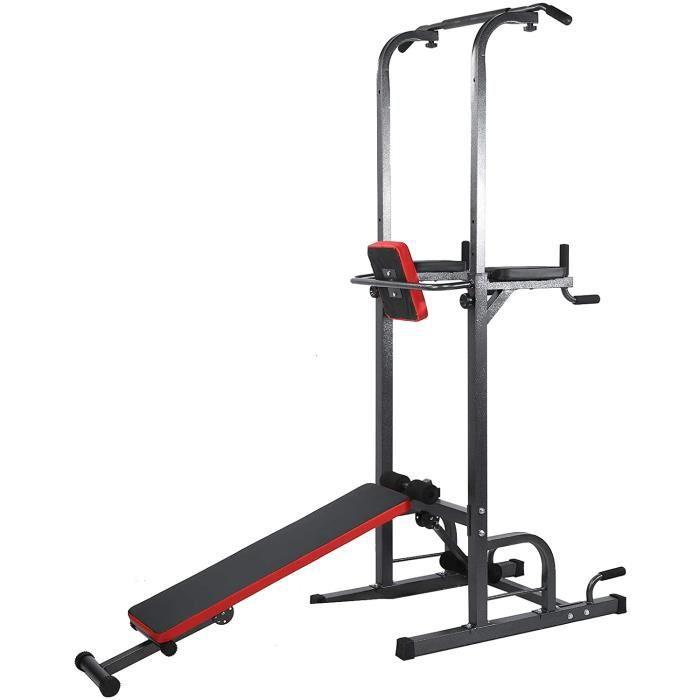 DIP STATION Y Station de musculation Power Tower Dip Barre de traction multifonction avec appareil de fitness pliable pour le do337
