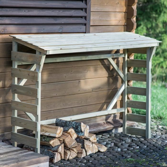 Abri bûches en bois Morzine - 1,5 stères