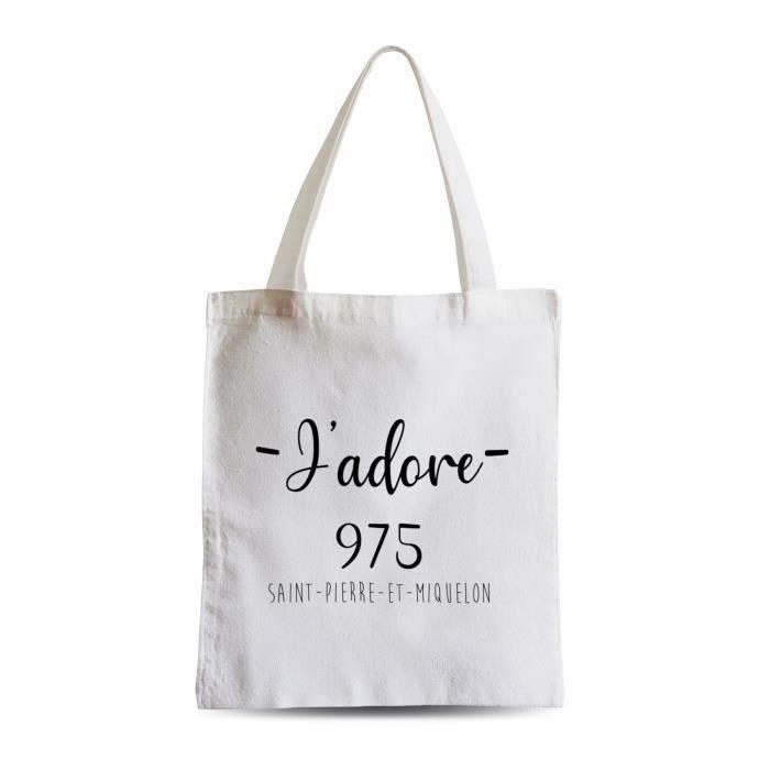 Grand Sac Shopping Plage Etudiant J'Adore 975 Departement France Region Saint Pierre Et Miquelon