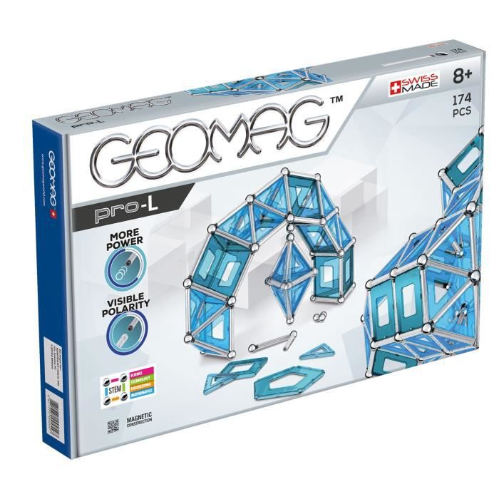 Geomag Pro-l Kit - 174 Piece Magnetic Construction Set O5VBT