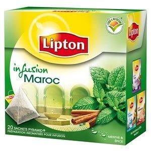 Infusion Maroc menthe et épices 40g Lipton