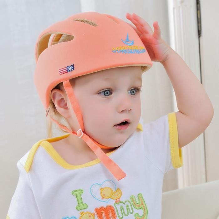 Bébé Sécurité Casque De Protection Anti-choc pour Bébés Enfants Garçons Filles Coton Infantile Protection Chapeaux Enfants -orange