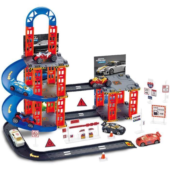 Luna set de jeu Garçons de parking noir/rouge/bleu 55 pièces