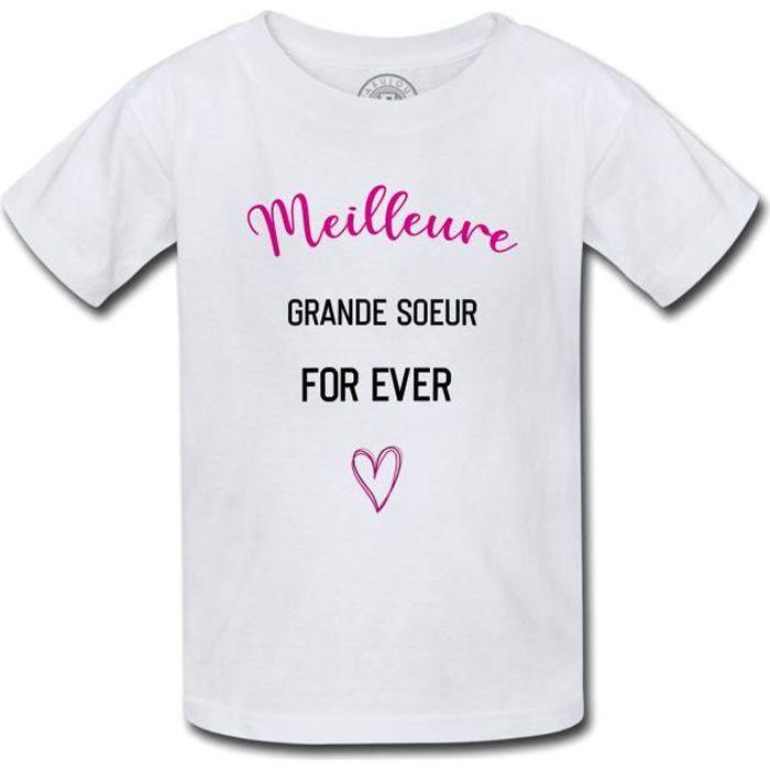 T-shirt Enfant Meilleur Grande Soeur For Ever Coeur Famille