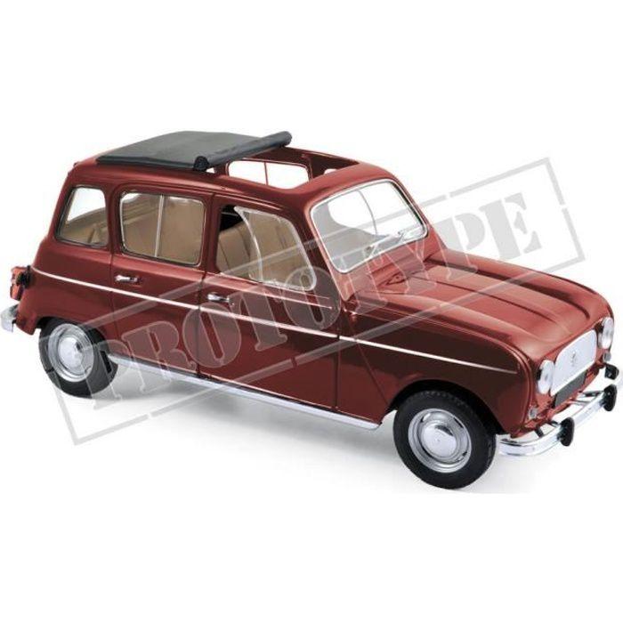 Véhicule Miniature assemble - Renault 4L Rouge Foncé 1966 1-18 Norev