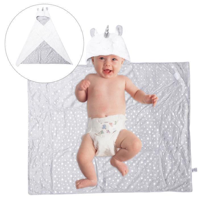 1Pc bébé peignoir dessin animé licorne serviette de bain coton à capuche fournitures SORTIE DE BAIN - PONCHO DE BAIN