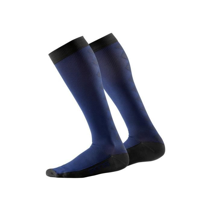 Essentials Womens Comp Socks Recovery Navy/Black (S)