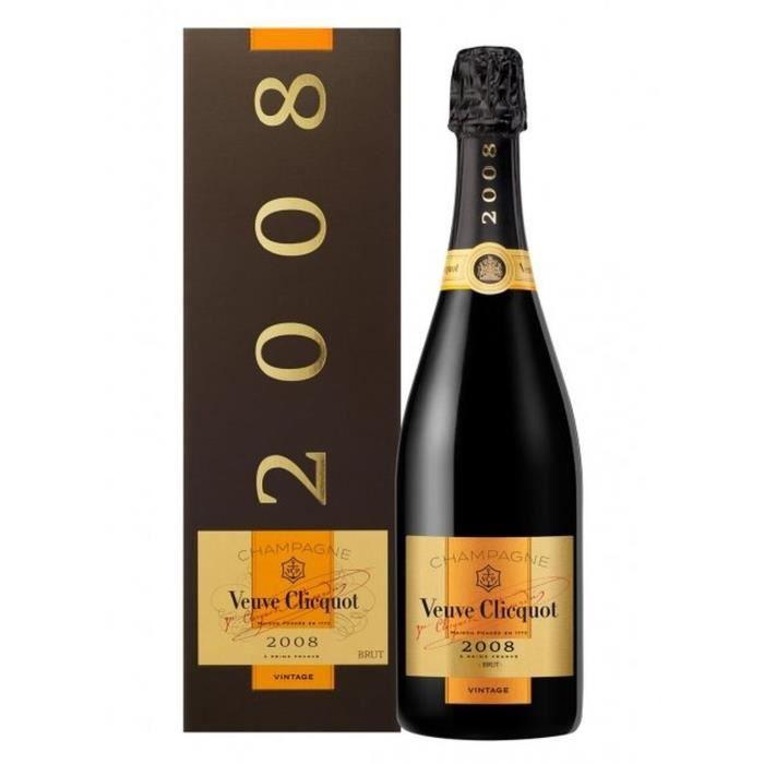 Champagne Veuve Clicquot Vintage 2008 ave étui Brut - 75 cl