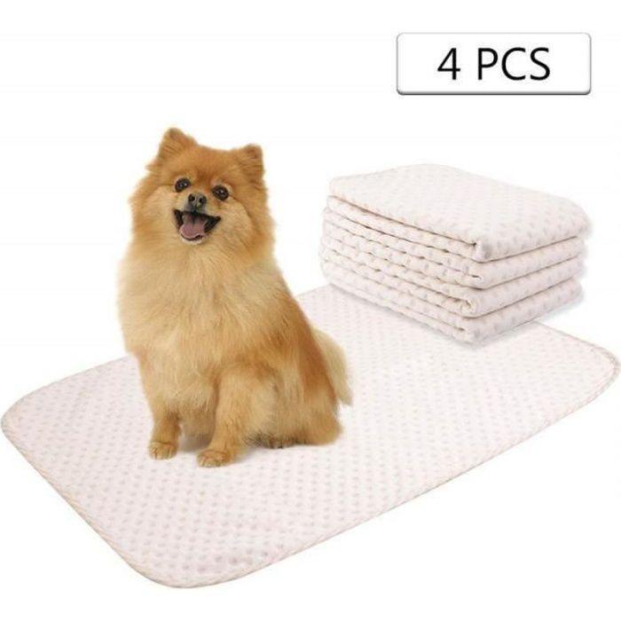 QQ34488-Yangbaga 4pc Alèses Chien Lavables, Tapis d'Apprentissage de la Propreté pour Chat Chiot Chihuahuas (50 * 70cm)