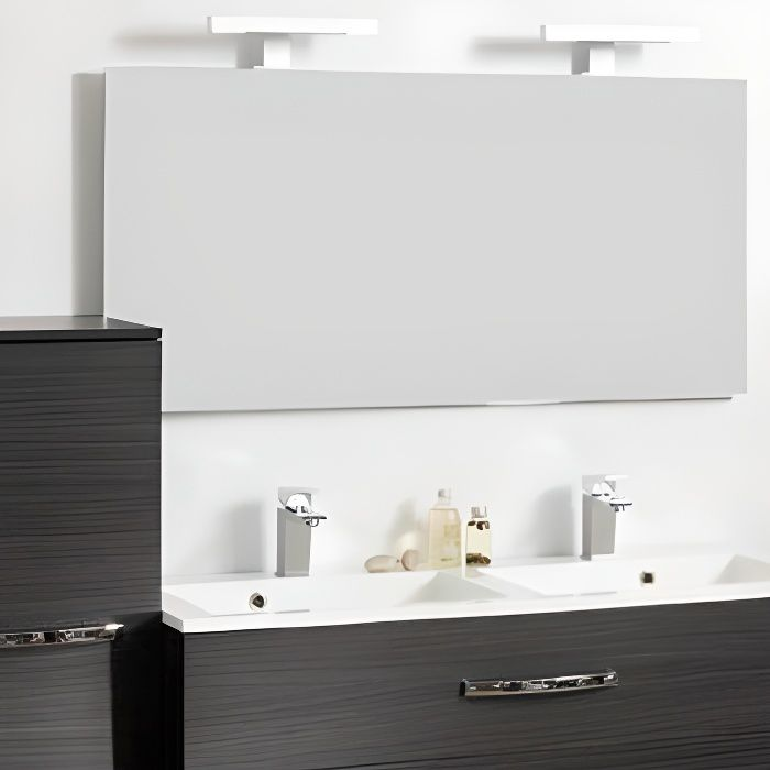 miroir salle de bain adept 120 x 60 cm achat vente. Black Bedroom Furniture Sets. Home Design Ideas