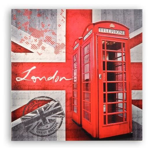 cadre toile london londres 60 x 60 cm achat vente tableau toile cdiscount. Black Bedroom Furniture Sets. Home Design Ideas