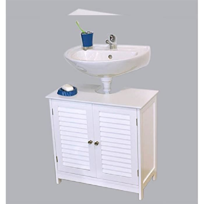 meuble dessous lavabo florence blanc achat vente meuble vasque plan meuble dessous lavabo. Black Bedroom Furniture Sets. Home Design Ideas