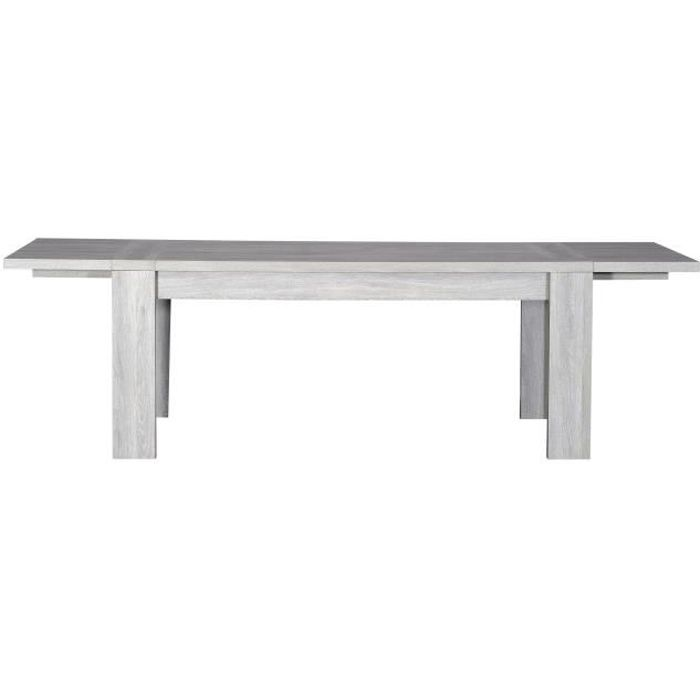 Lathi table extensible 180 260cm gris clair achat for Table extensible gris clair