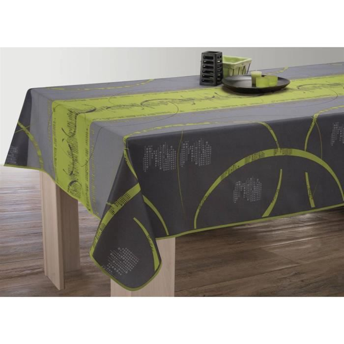 nappe anti taches rectangulaire 150x300 cm astrid anis. Black Bedroom Furniture Sets. Home Design Ideas