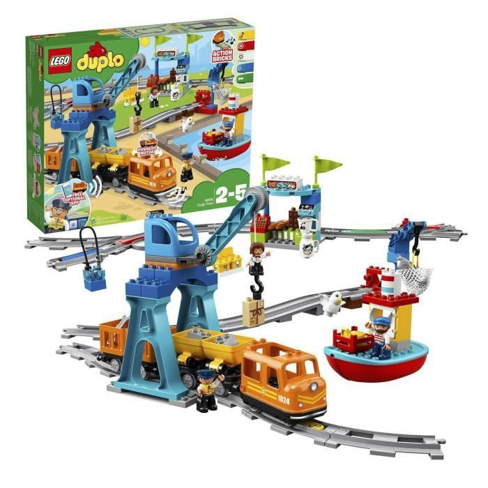 ASSEMBLAGE CONSTRUCTION LEGO® DUPLO® 10875 Le Train de Marchandises