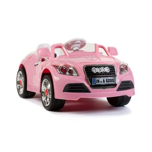 voiture lectrique audi rose achat vente voiture enfant cdiscount. Black Bedroom Furniture Sets. Home Design Ideas