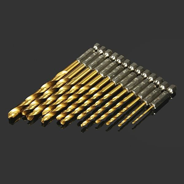 B Blesiya Forets de forage hexagonaux /à changement rapide /à 5 pi/èces fixer des forets en acier /à haute vitesse