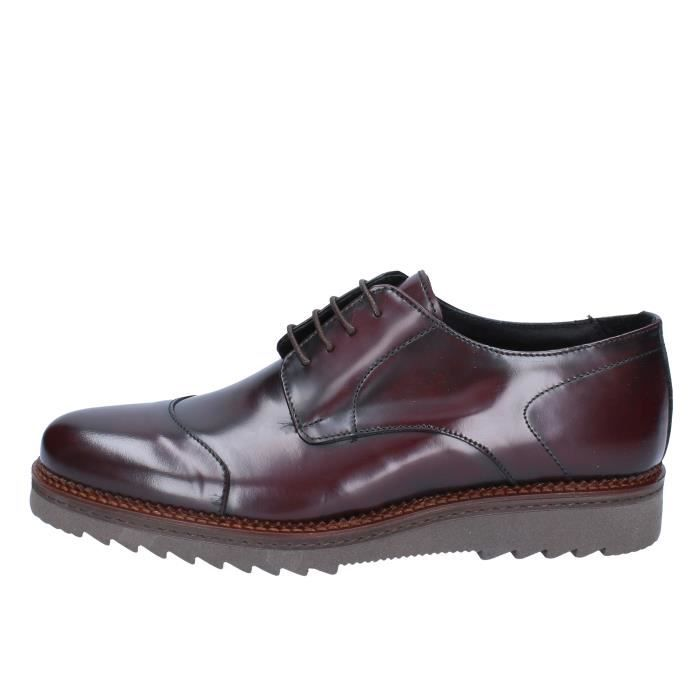 Cuir Derbies Bordeaux Homme Barone Salvo HrrCtqw