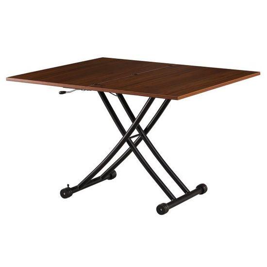 Meubles Capsull Design Table Relevable Jenny Noir Salle à