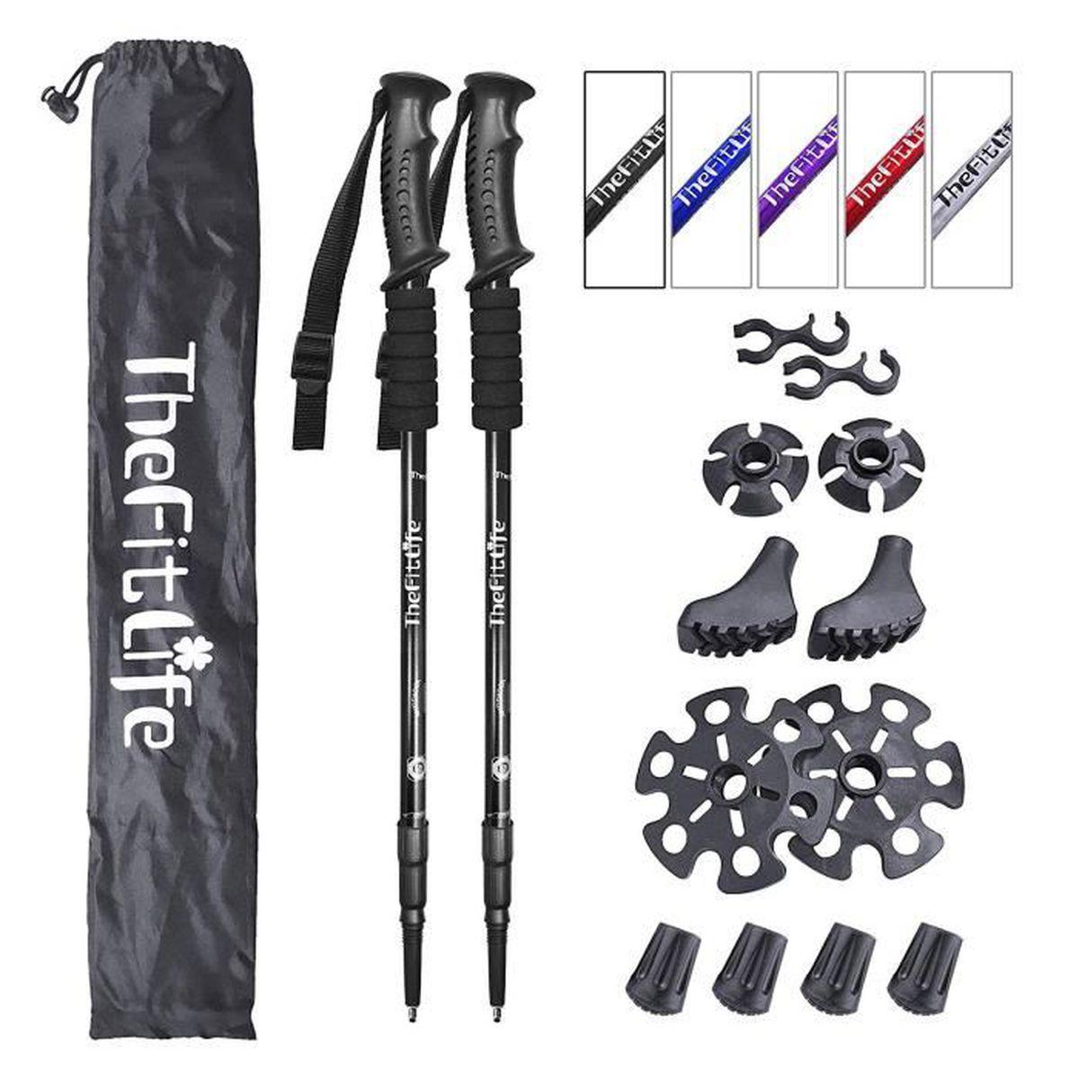Highlander Rechange Walking Pole pieds randonnée Équipement articles de sport caoutchouc noir