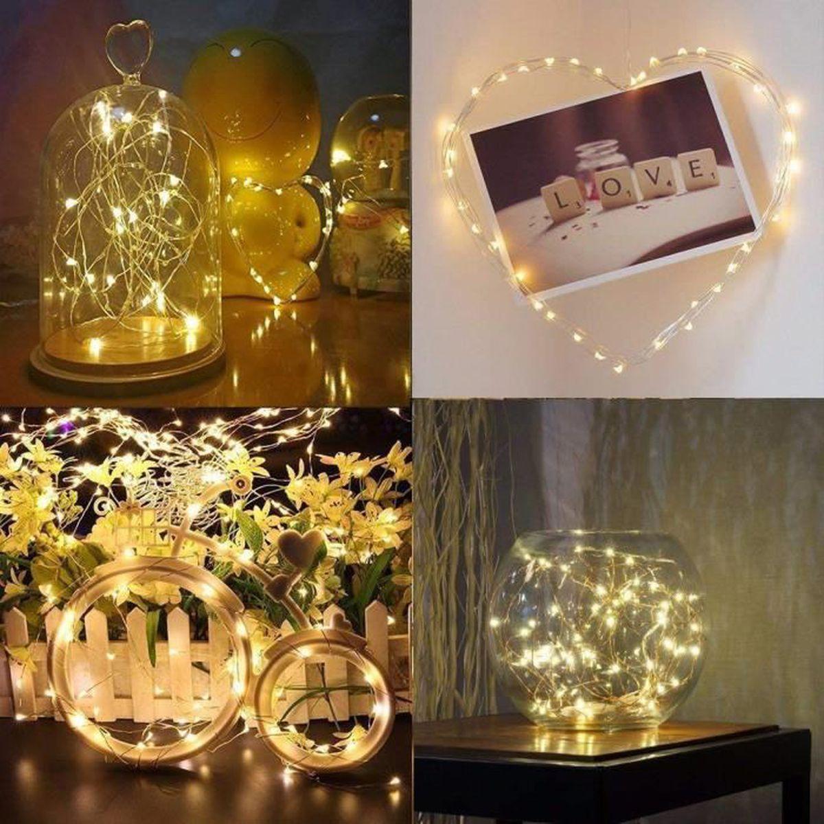 DEL bouteille Lights 185 cm Souple Fil de cuivre avec 20 DEL Blanches