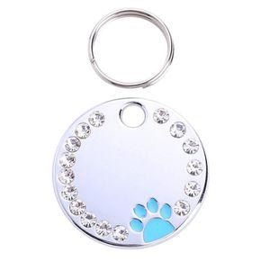 COLLIER Mignon diamant Paw ID Cat Name Tags Pet Collier de