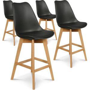 CHAISE Lot de 4 chaises hautes style scandinave Catherina