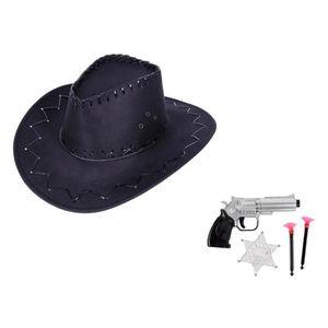 CHAPEAU - PERRUQUE Kit de déguisement cowboy pour enfant Ados (KV-69)