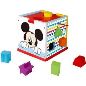 CUBE ÉVEIL Disney - Cube Mickey et blocs en bois - 12 pcs