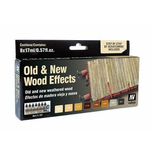 ACCESSOIRE MAQUETTE Vallejo Model Air Set - Old & New Wood Effects - (