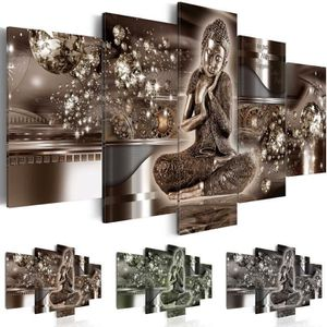 tableau bouddha achat vente tableau bouddha pas cher cdiscount. Black Bedroom Furniture Sets. Home Design Ideas